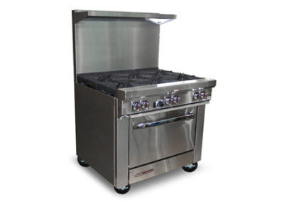 6 Open Burners, Cabinet Base S36C
