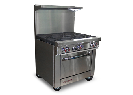 6 Open Burners, Standard Oven S36D